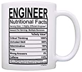 Engineering Gifts Engineer Nutritional Facts Label Science Math Gift Coffee Mug Tea Cup White