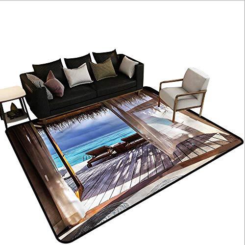 Coastal,Non-Slip Modern Carpet 60