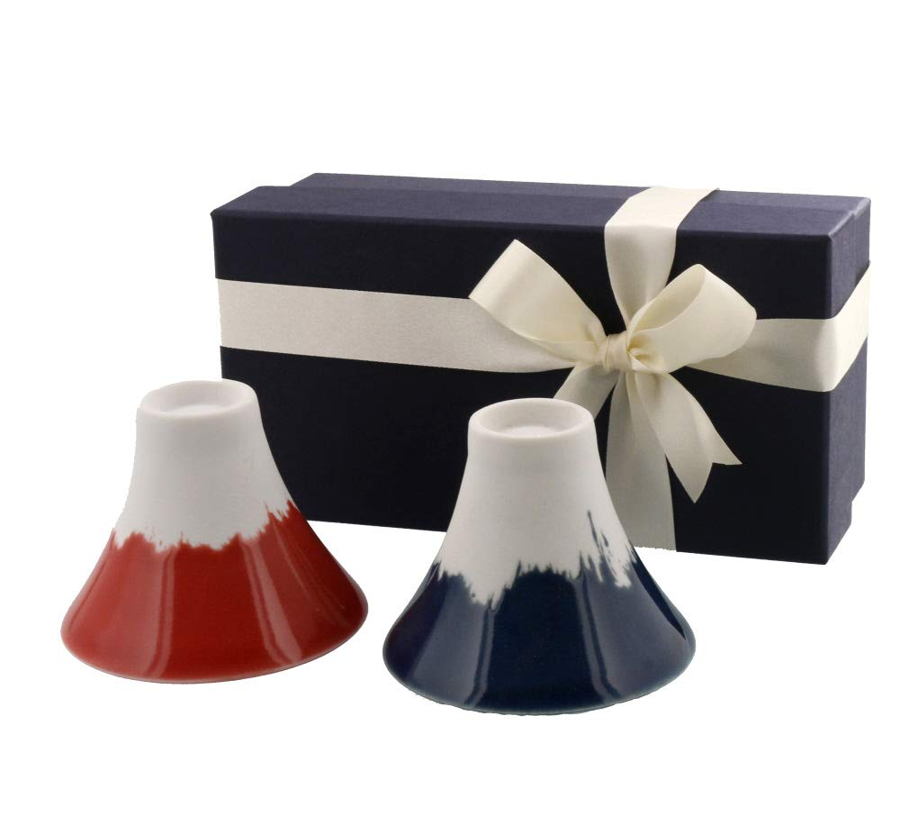 Table ware East 2.5 ounces (70 cc) Mt. Fuji Sake Cups Set of 2 with Gift Box, Made in Japan