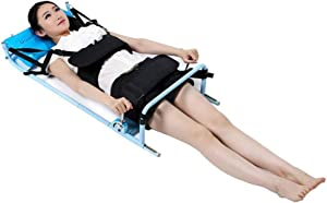 QMZDXH Portable Back Lumbar Traction Device for Bed, Home Use Cervical Spine Extension Stretcher Device, Improveing Spine Posture Corrector, for Lumbago Low Back Pain