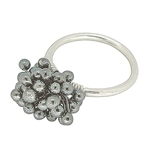 Studio Dots Womens Oxidized Sterling Silver Seeds Ring, Size 7 (7 Dots Studio)