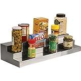 Dial Expand A Shelf 3 Tier Spice Rack Step Shelf Organizer Stainless Steel