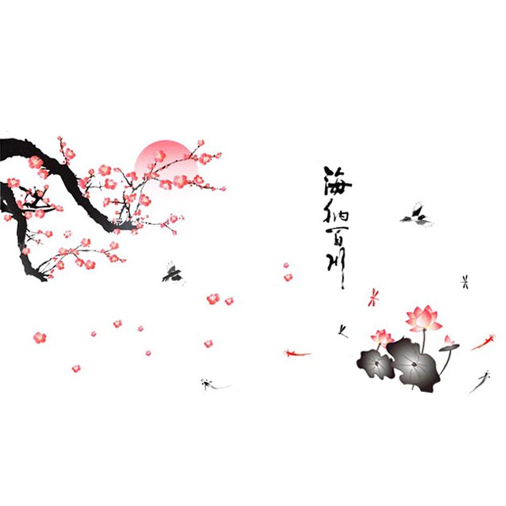 Plum Blossom Removable Wall Sticker Bedroom Living Room Home Décor Sofa Backdrop 1Pc DierCosy