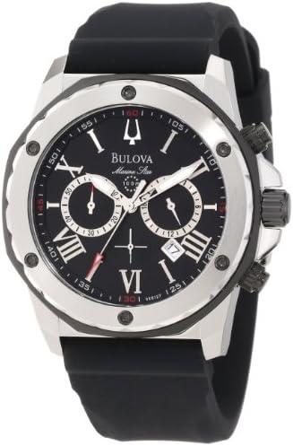 Bulova Men s 98B127 Marine Star Black Dial Strap Watch