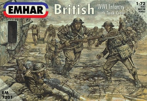 Emhar Models British WWI Infantry Model Building Kit with Tank - Weapons Infantry British