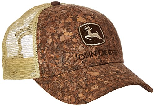 John Deere Embroidered Logo Tree Bark Baseball Hat - One-Size - Men's - Brown