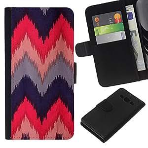 KLONGSHOP // Tirón de la caja Cartera de cuero con ranuras para tarjetas - Azul indio nativo Rosa M - Samsung Galaxy A3 //