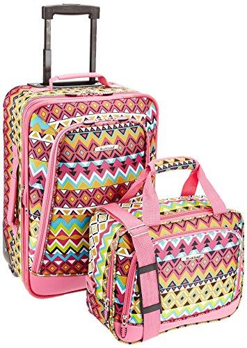 Rockland 2 Piece Luggage Set, Tribal, One Size