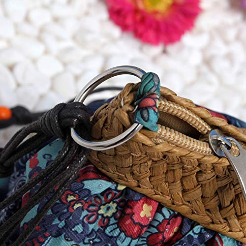potato001 Bohemian Women Pouch Wine Shoulder Zipper Printed Dress Bag Red Beach Crossbody Purse rCUrq