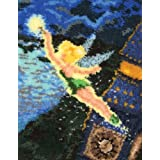 MCG Textiles Tinker Bell Latch Hook Rug Kit, 21 by 26-Inch