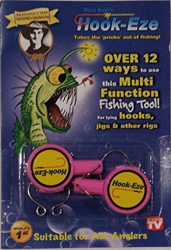 HOOK-EZE Fishing Hook, Swivel, Line, Safety Tying Device, Line Cutter & More (PINK) (Hook Cutter)