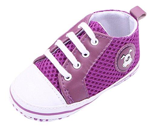 Lukis Baby Lauflernschuhe Sneaker Canvas Sports Schuhe Babyschuhe Lila
