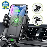 Easy One Press Wireless Car Charger Mount, Automatic Opening, Double Support Air Vent Car Mount, Humixx Fast Charge: Samsung Galaxy S10 /S10+/S9 /S9+ | Standard Charge: iPhone Xs/Xs Max/XR/X/ 8/8 Plus
