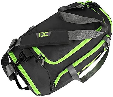 YKDY UK IX LK8035 Scratchproof Waterproof Dry Wet Separation Crossbody One-Shoulder Yoga Fitness Travel Bag, Capacity: 40L(Black+Green) (Color : Black+Green) Grey Green