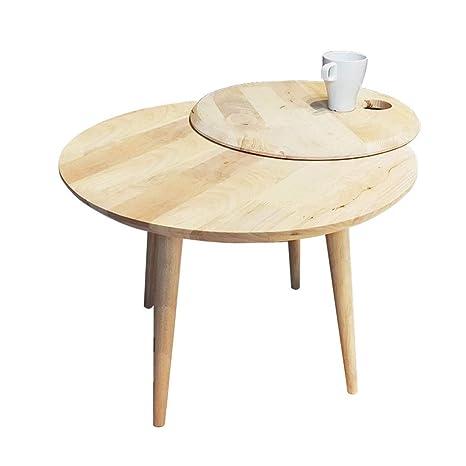 Amazon.com: Mesa auxiliar de madera maciza con esquinas ...
