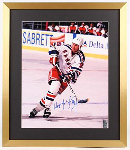 JEM Wayne Gretzky Signed Rangers 21.5x25 Custom Framed Photo Display (Gretzky ()