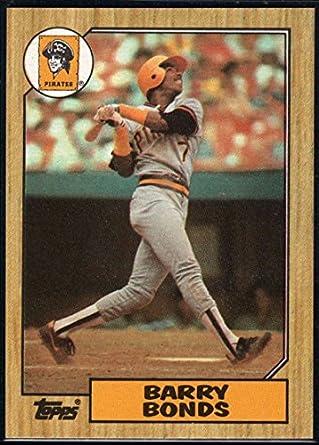Amazoncom 1987 Topps 320 Barry Bonds Rookie Card Pirates