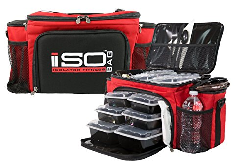 Isobag 6 Meal Reverse Red/Black by Isolator Fitness (Image #1)