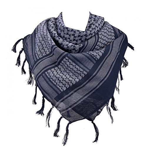 100% Cotton Military Shemagh Arab Tactical Desert Keffiyeh Scarf Wrap for Women Men 43