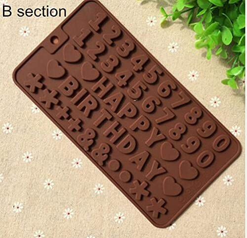 Lannmart DIY Letters Numbers Chocolate Silicone Mold Candy