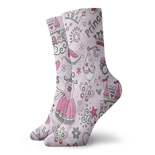 Women's Novelty Kids Princess Slippers Fairy Castle Light Cushion Athletic Socks
