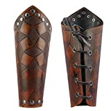 Jeilwiy Leather Armor Medieval Gauntlets Wristband