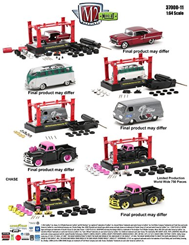 (New 1:64 Model Kits & AUTO-LIFT WAVE 11 ASSORTMENT Diecast Model Car By M2 Machines Set of 4 Cars)