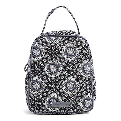 - Vera Bradley Iconic Lunch Bunch, Signature Cotton, Charcoal Medallion