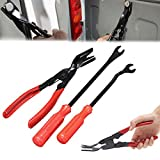 Wilk 3 Pcs Car Door Trim Clip Plier Set, Fastener Remover Puller Repair - Combo Repair Tool Kit Set