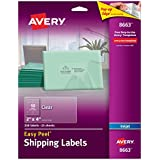 "Avery Ink Jet Clear Address Labels, 2"" x 4"", 250 per Pack (8663)"