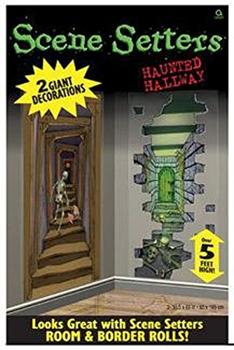 Pams Halloween Party Decoration Haunted Hallways Giant Scene Setter Pack Of -