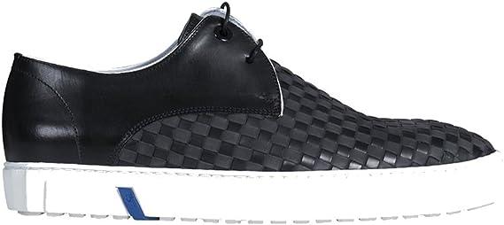 Floris van Bommel Herren Sneaker aus Leder in Schwarz