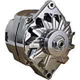 NEW CHROME CHEVY 1-WIRE or 3-WIRE ALTERNATOR FITS 140 AMP SELF EXCITING ENERGIZING