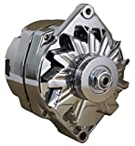 alternator gm - 110A CHROME STREET ROD GM HIGH OUTPUT ALTERNATOR FITS 1-ONE WIRE SELF EXCITING ENERGIZING