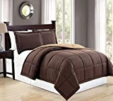 Alternative Comforter - Mk Collection Down Alternative Comforter Set 3pc (king, Brown/Taupe)