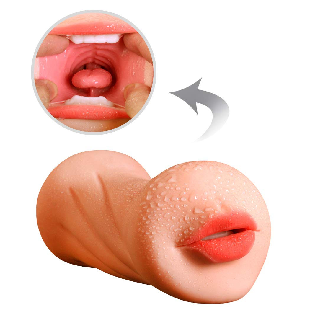 qqooo Soft and smooth male ǎircrǎft cup toy, 3D realistic honey hi^p and red lips design male mǎsturbation device, single male, gǎy six toy,T-shirt