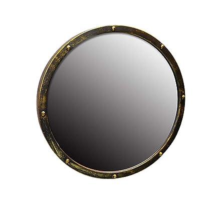 Amazon Com Bathroom Mirror Vintage Wrought Iron Round Bathroom Old
