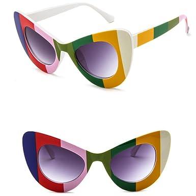 Gafas de Sol Polarizadas, Koly Retro Vintage Clout Goggles Rapper Clásico Gato Ojo Grande Sobredimensionado Grueso Plástico gótico Sunglasses (1PC, ...