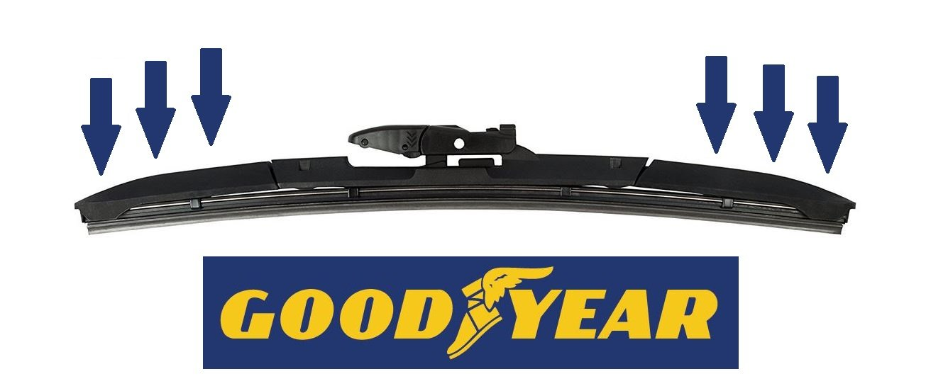 Essuie-glaces GOODYEAR hybride Passager 50cm 61013712