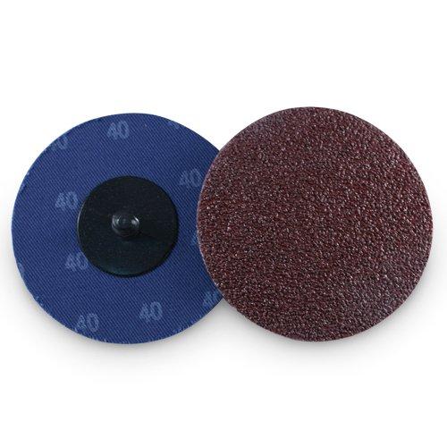 3'' Roloc Aluminum Oxide Quick Change Sanding Discs 40 Grit - 25 Pack