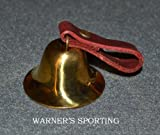 Warner Traditional Sportsman Brass Dog Collar Bell Leather Loop