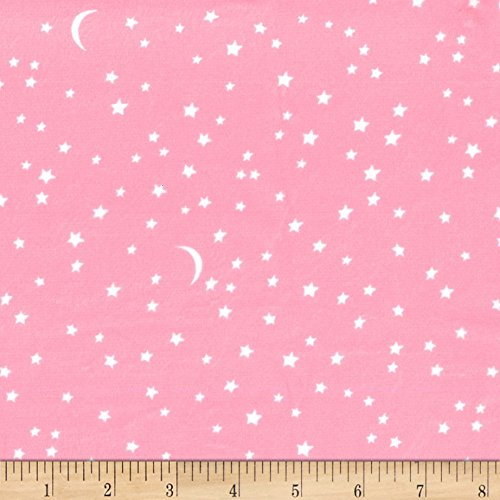 Michael Miller Minky Puddle Play Starry Too Bubble Gum Fabric by The Yard