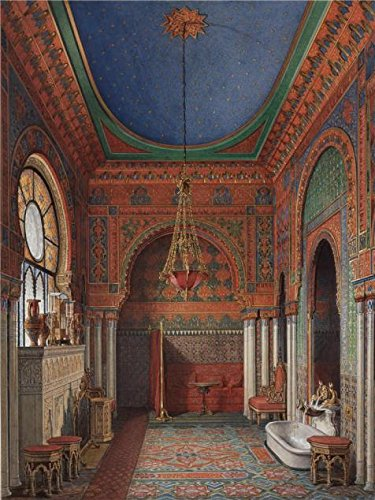 The High Quality Polyster Canvas Of Oil Painting 'Hau Edward Petrovich,Interiors Of The Winter Palace,The Bathroom Of Empress Alexandra Fyodorovna,1870' ,size: 30x40 Inch / 76x101 Cm ,this Cheap But High Quality Art Decorative Art Decorative Canvas Prints