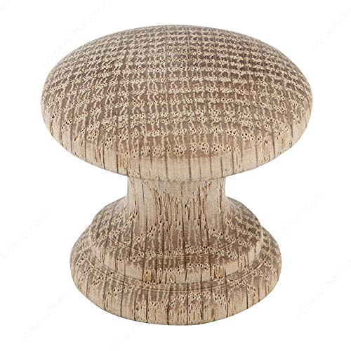 Richelieu Wood Knobs - RICHELIEU HARDWARE - Eclectic Wood KNOB - BP02038250 (Oak, Unfinished)