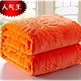 CHZM-Method of solid carved black blanket blanket blanket for children in more than one size of multiple air conditioning color,Orange,70×100cm