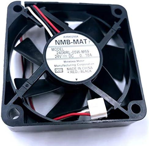 24V fan Brand New For NMB 2406RL-05W-M59 6015 6CM 606015mm DC24V 0.18A inverter printer projector cooling fan 10pcs //lot