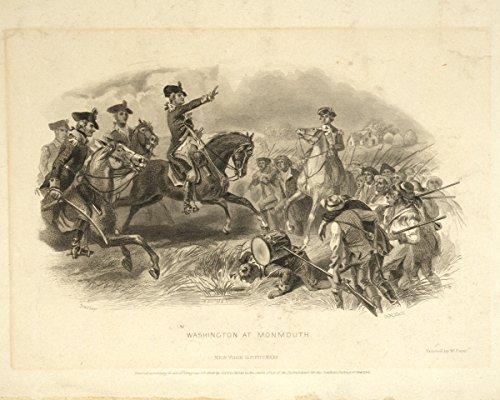 Photo Print 11X14  Washington At Monmouth  1858