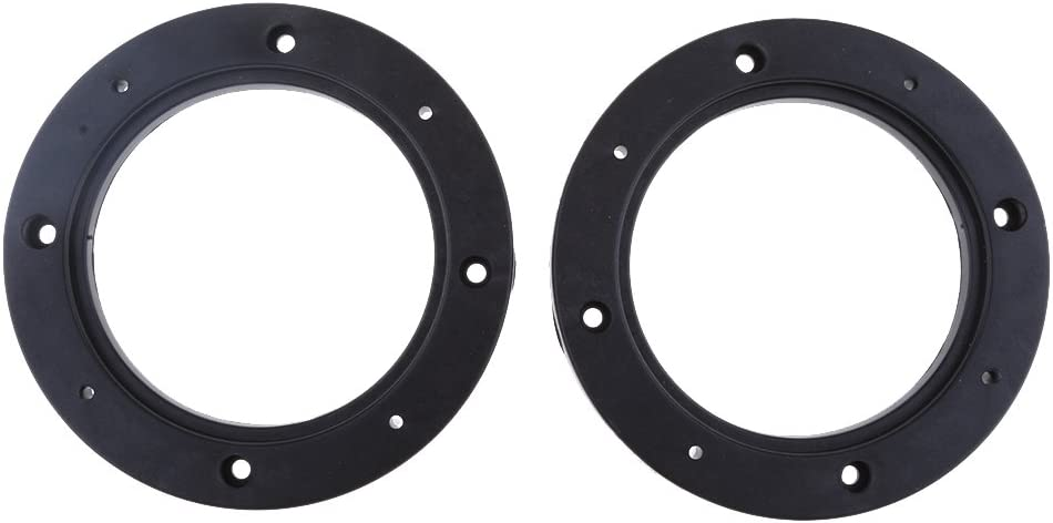 2 Pcs 4inch Dia Universal Black Plastic Speaker Spacer Adaptor Ring Mounting Bracket for Auto Car