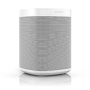 All-new Sonos One – The Smart Speaker for Music Lovers with Amazon Alexa built for Wireless Music Streaming and Voice Control in a Compact Size with Incredible Sound for Any Room. (White)