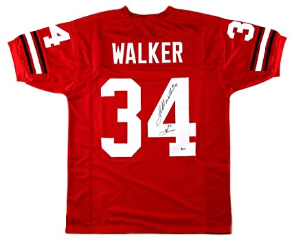 73e255580 Image Unavailable. Image not available for. Color  Herschel Walker  Autographed Signed Georgia Red Custom Jersey with quot 82 Heisman quot   Inscription